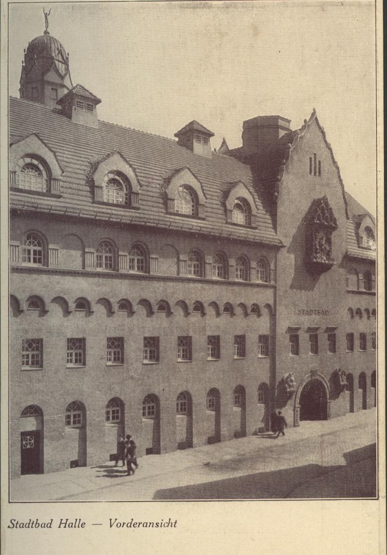 Das Stadtbad zwischen 1916 und 1918. Abbildungsrechte: Privatnachlass Wilhelm Jost