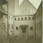 Hof des Stadtbades im Bau, 1915, Foto: Stadtarchiv Halle