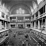 Männerhalle im Bau, 1915, Foto: Stadtarchiv Halle
