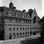 Fassade mit Turmi, 1916. Foto: Stadtarchiv Halle