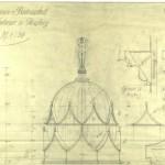 Zeichnung der Turmhaube, Wilhelm Jost, Stadtarchiv Halle